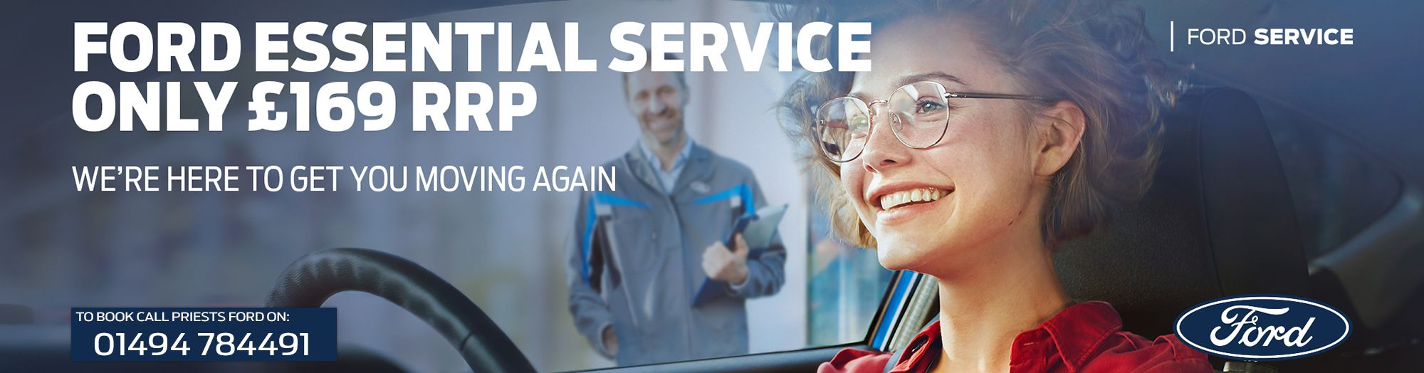 FORD ESSENTIAL SERVICING for £169 at Priests Ford
